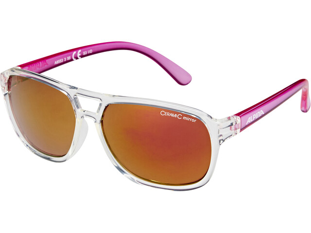 Alpina Yalla Kids Glasses clear-pink